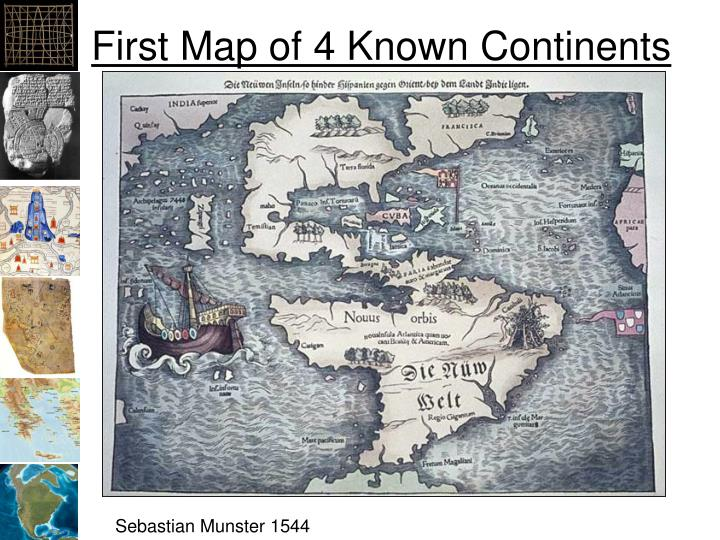 First Map of 4 Known Continents