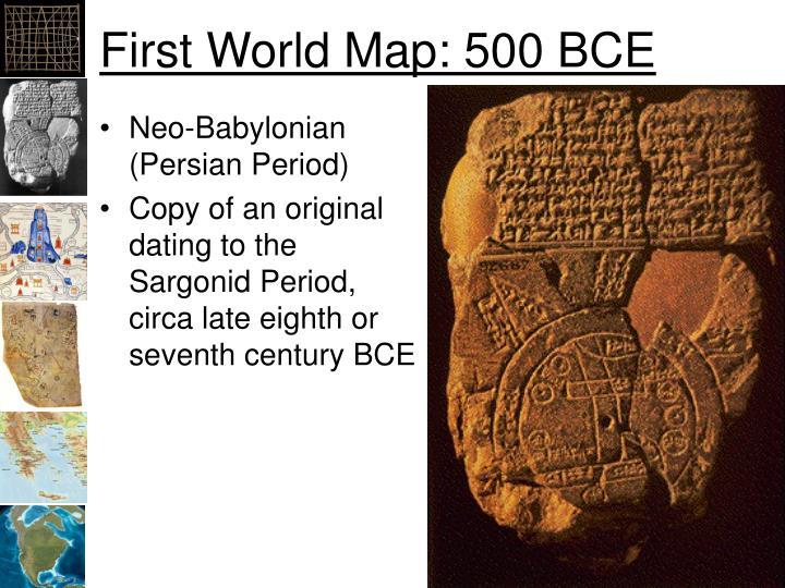 First World Map: 500 BCE