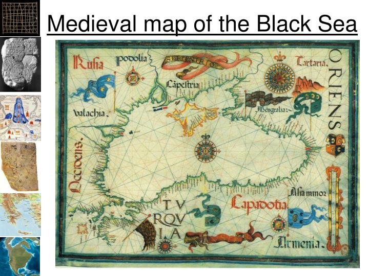 Medieval map of the Black Sea