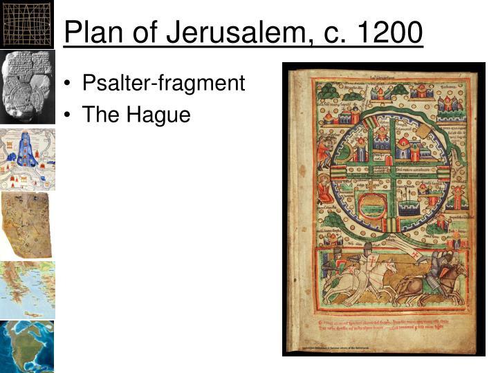 Plan of Jerusalem, c. 1200