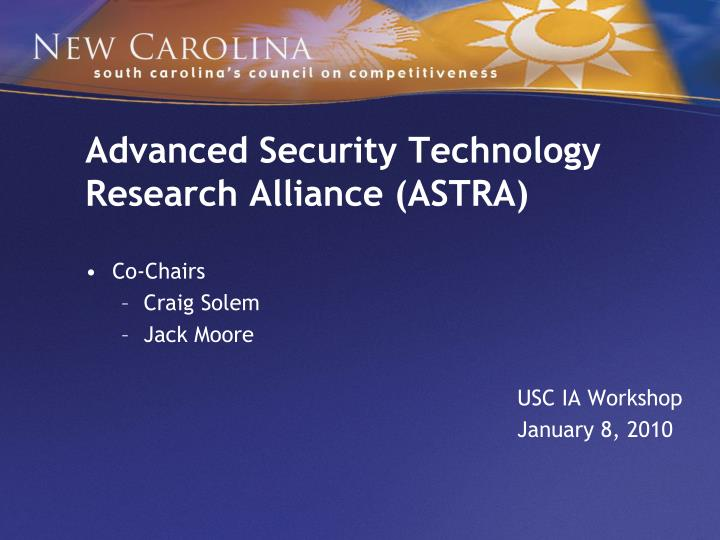 advanced security technology research alliance astra n.