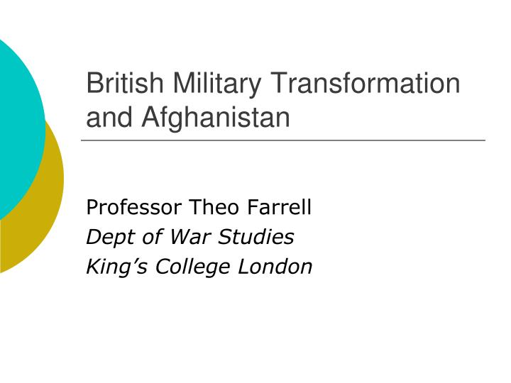 british military transformation and afghanistan n.