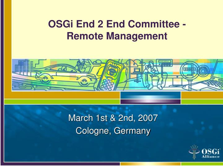 osgi end 2 end committee remote management n.