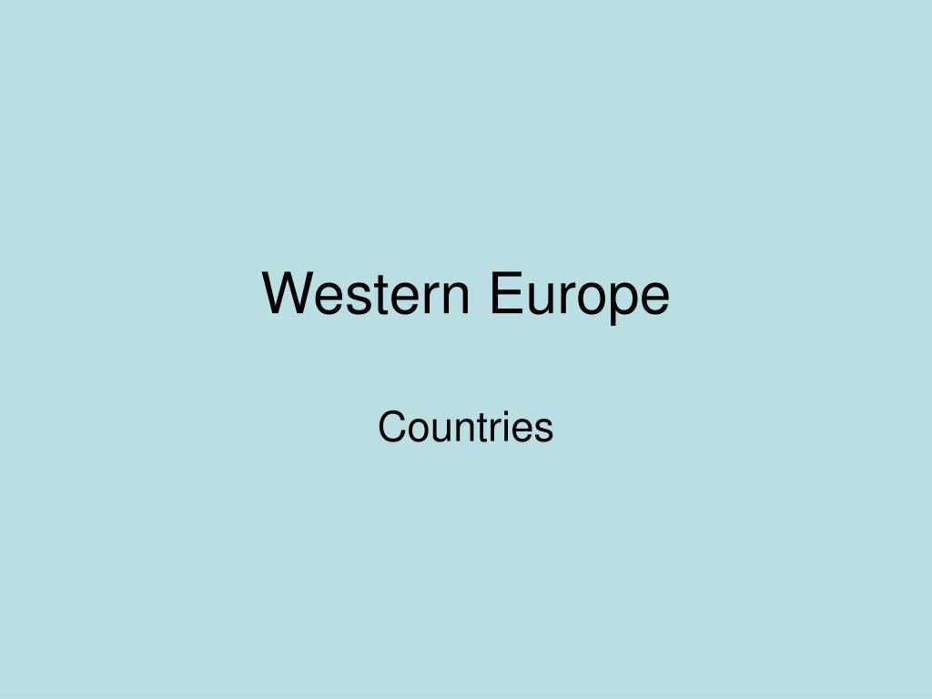 western europe l.