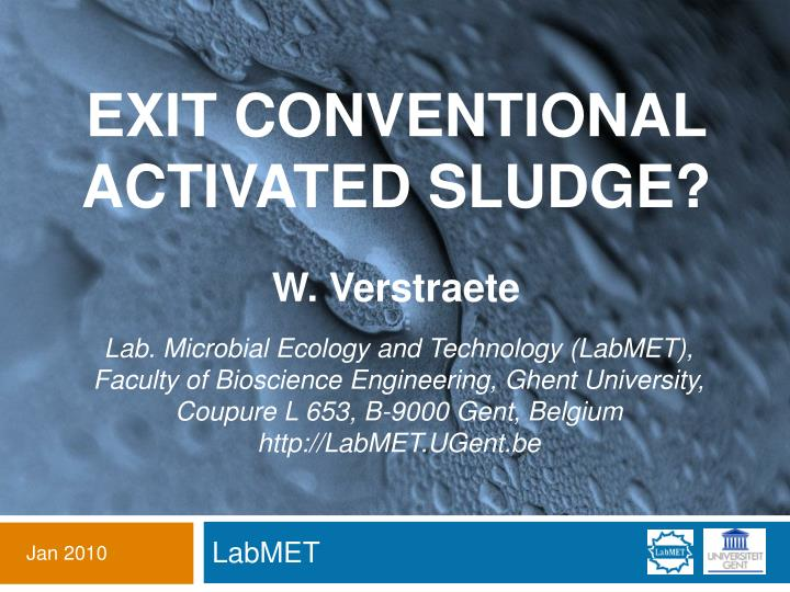 exit conventional activated sludge n.