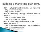 building a marketing plan cont1
