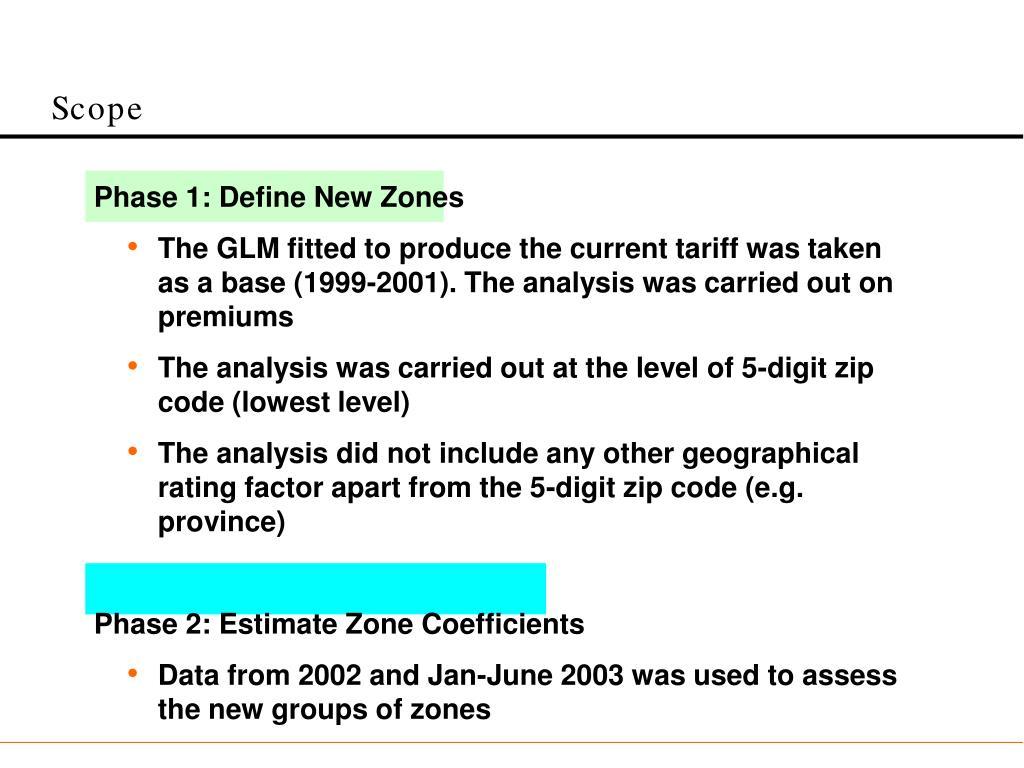 Phase 1: Define New Zones