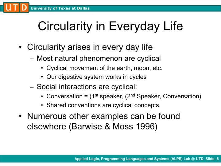 Circularity in Everyday Life