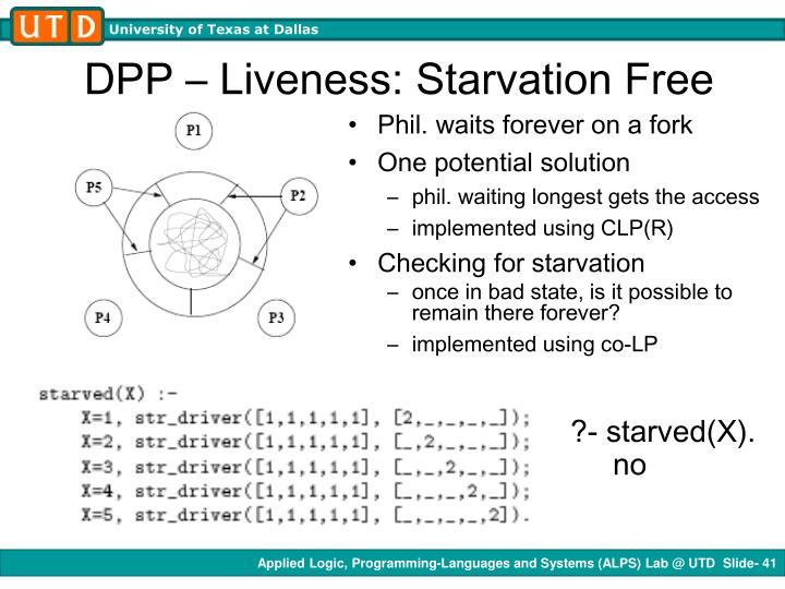 DPP – Liveness: Starvation Free