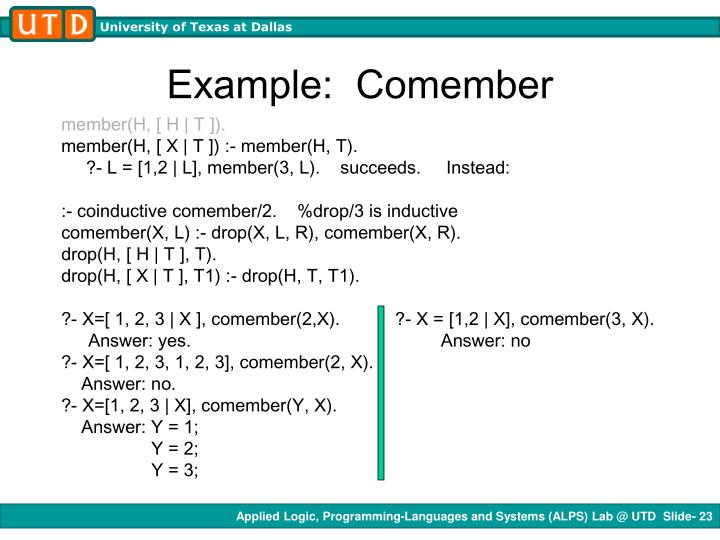 Example:  Comember