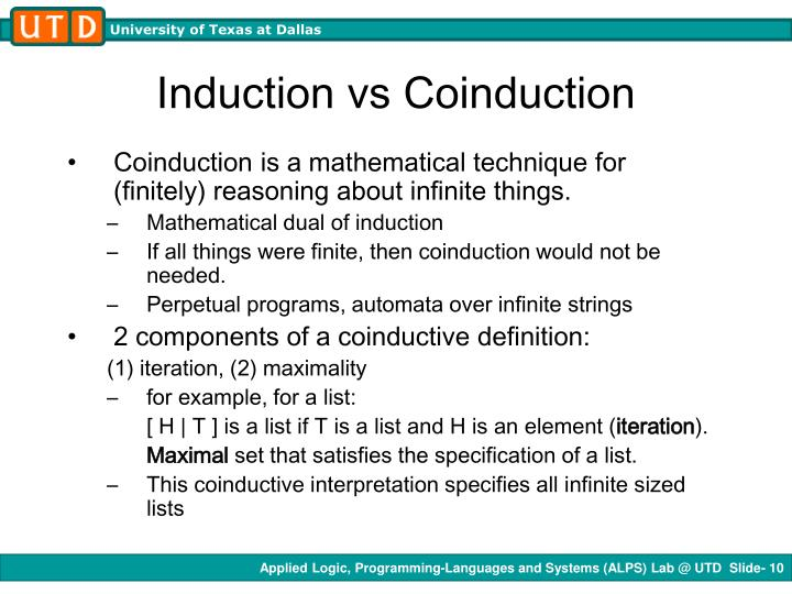 Induction vs Coinduction