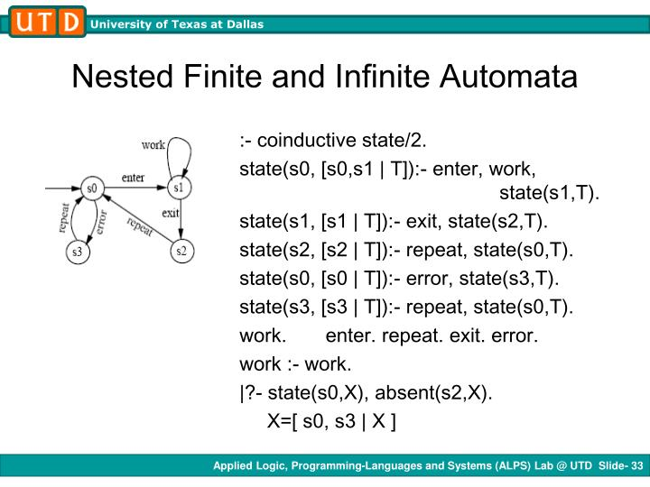 Nested Finite and Infinite Automata