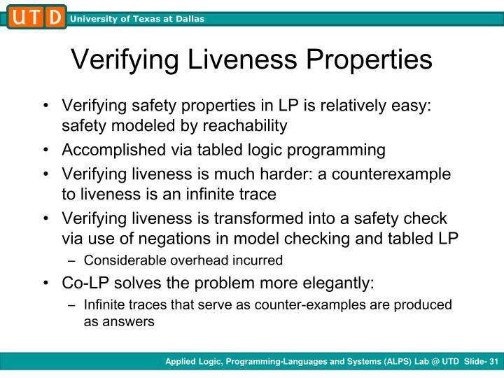 Verifying Liveness Properties