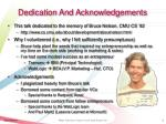 dedication and acknowledgements