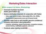 marketing sales interaction