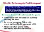 why do technologists feel underpaid