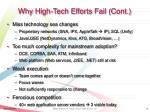 why high tech efforts fail cont