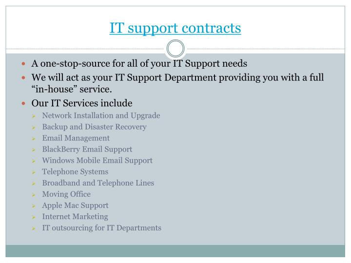 IT support contracts