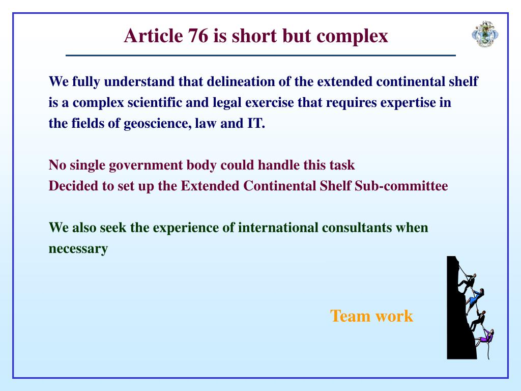Article 76 is short but complex