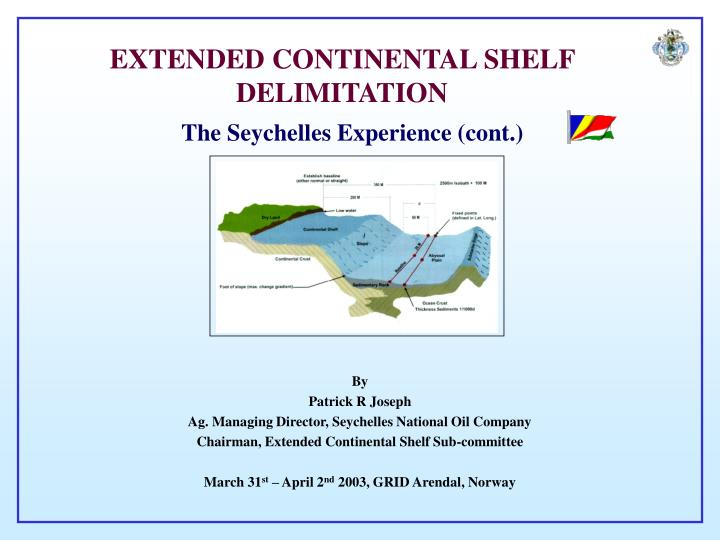 Extended continental shelf delimitation