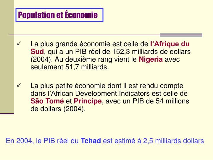 Population et Économie