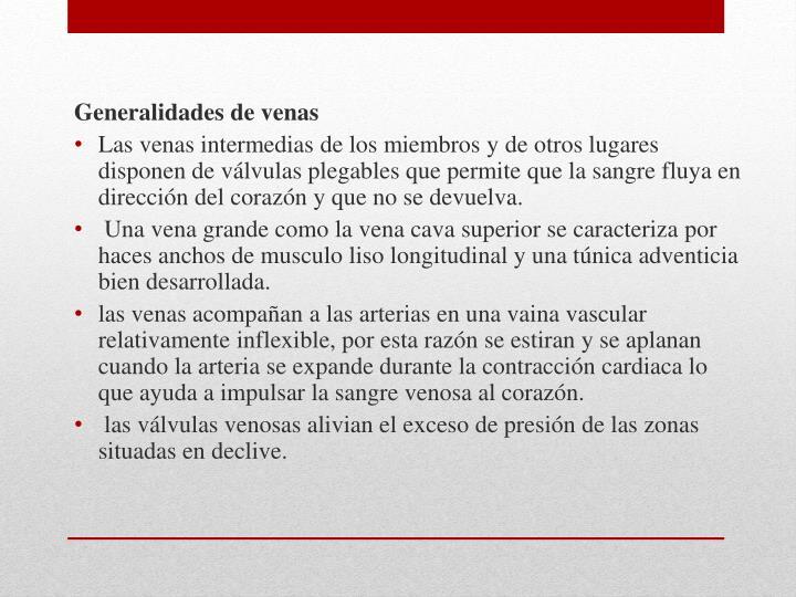Generalidades de