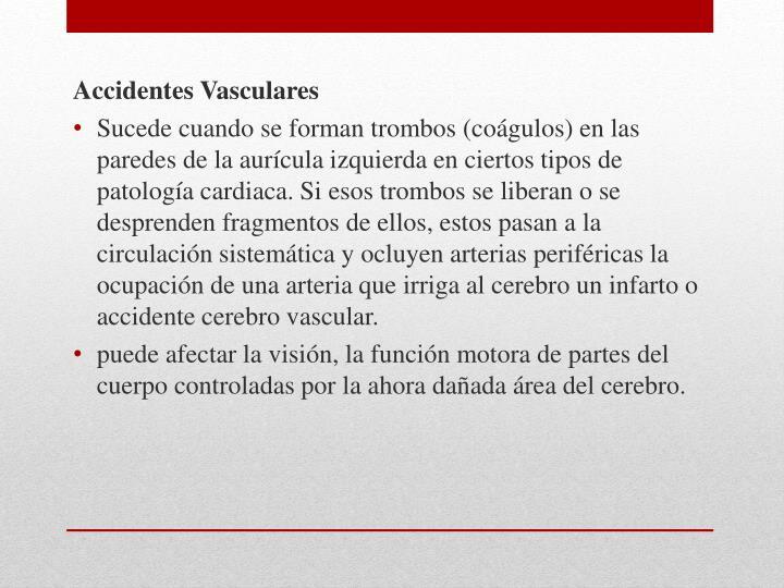 Accidentes Vasculares
