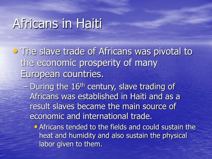 Africans in Haiti
