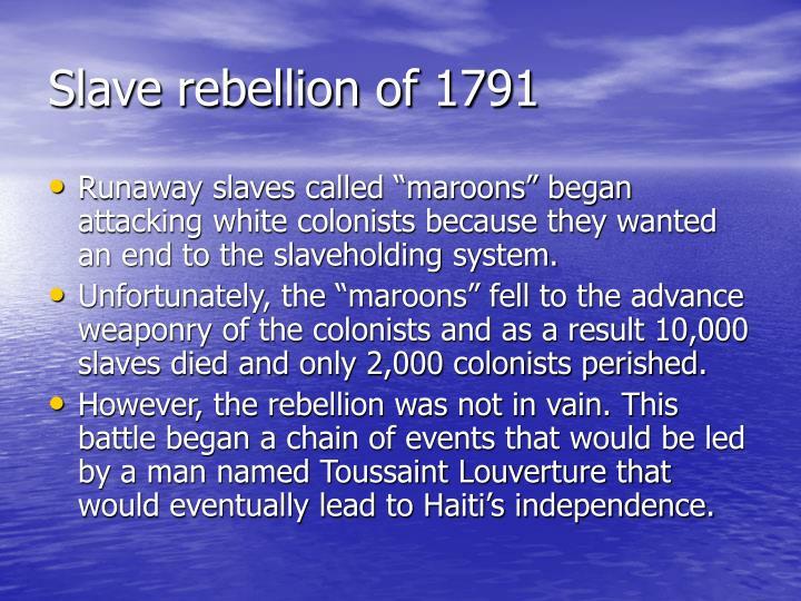 Slave rebellion of 1791