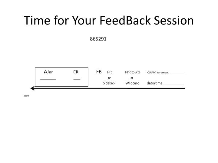 Time for Your FeedBack Session