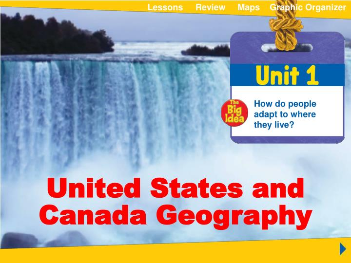 PPT - Unit 1 United States and Canada Geography PowerPoint ...