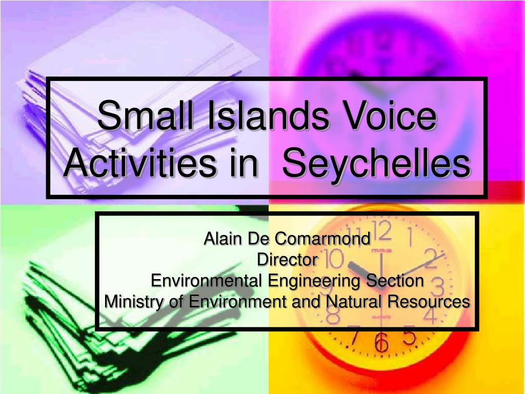 Small Islands Voice Activities in  Seychelles