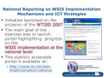 national reporting on wsis implementation mechanisms and ict strategies3