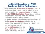 national reporting on wsis implementation mechanisms