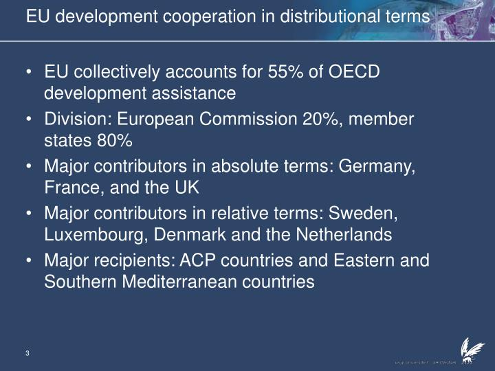 Eu development cooperation in distributional terms