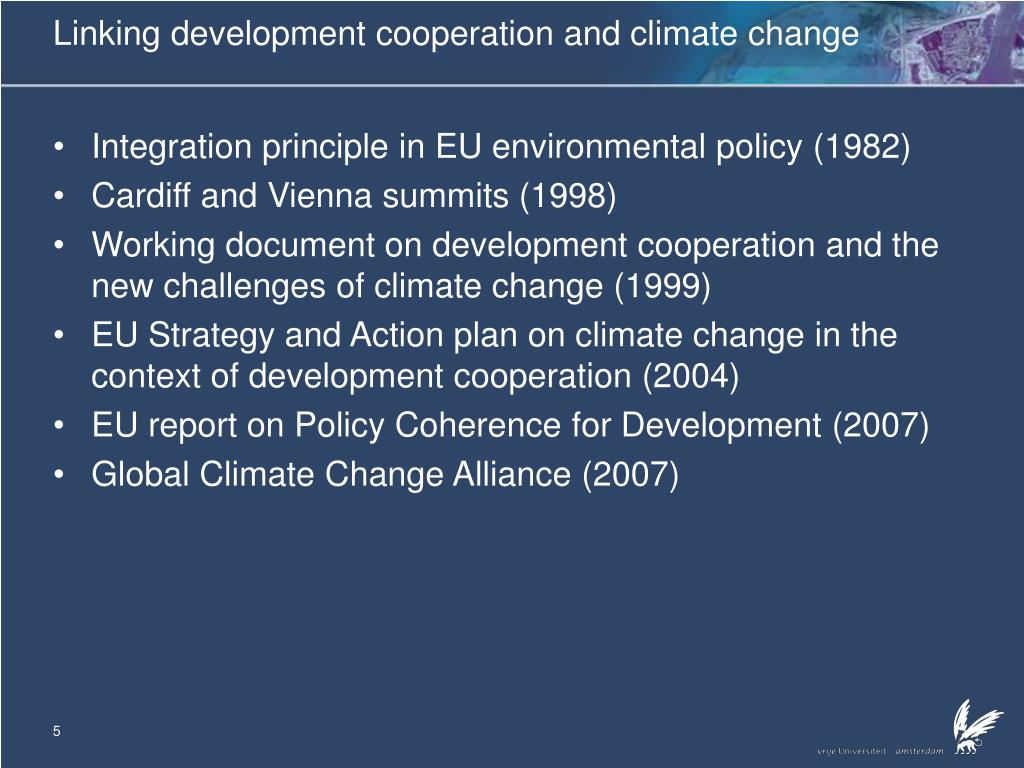 Linking development cooperation and climate change