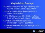 capital cost savings