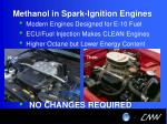 methanol in spark ignition engines