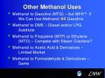 other methanol uses