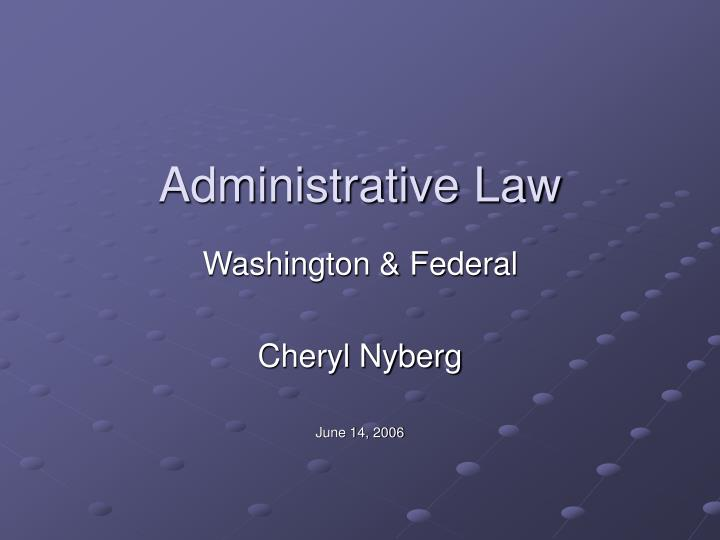 administrative law n.