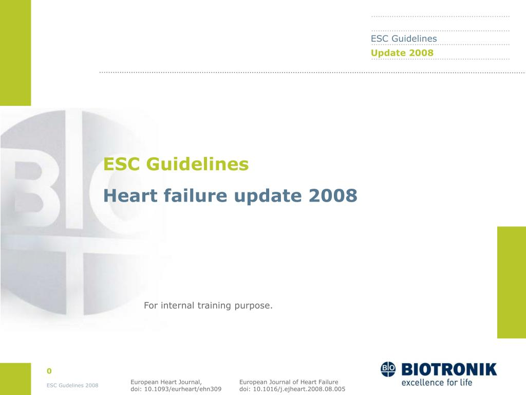 PPT - ESC Guidelines Heart failure update 2008 PowerPoint