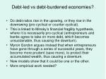 debt led vs debt burdened economies