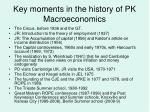 key moments in the history of pk macroeconomics