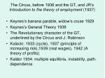 the circus before 1936 and the gt and jr s introduction to the theory of employment 1937