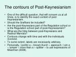 the contours of post keynesianism
