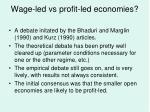 wage led vs profit led economies