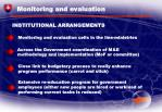 monitoring and evaluation32
