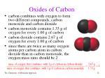 oxides of carbon