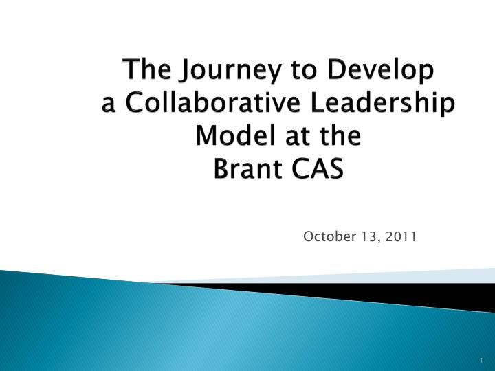 the journey to develop a collaborative leadership model at the brant cas n.