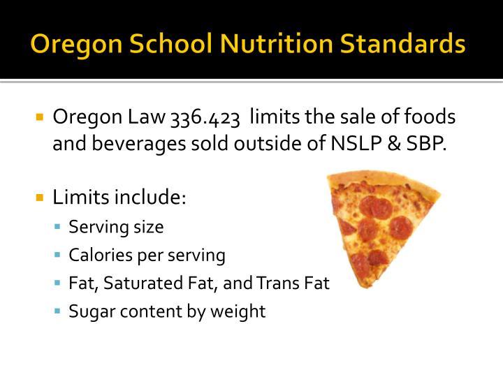 Oregon School Nutrition Standards